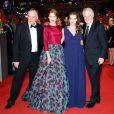 André Dussollier, Léa Seydoux, Christophe Gans et Yvonne Catterfeld (enceinte) à la première du film La Belle et la Bête lors du 64e Festival International du Film de Berlin, le 14 février 2014.