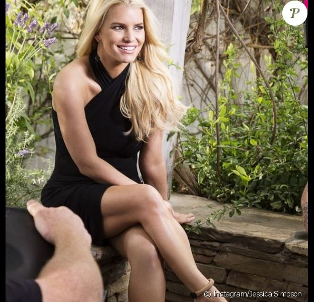 Jessica Simpson sur le tournage de sa pub Weight Watchers, photo postée le 18 février 2014.