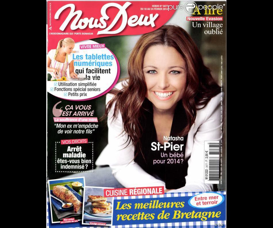 Natasha St-Pier parle de son mari dans les pages de Nous Deux, en kiosques le 18 février 2014.