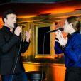 """Natasha St-Pier et Tony Carreira - Showcase pour la sortie d'album du chanteur portugais Tony Carreira """"Nos fiancailles, France/Portugal"""" au No Comment à Paris, le 23 janvier 2014."""