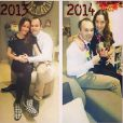"""Andrés Iniesta et sa femme Anna Ortiz lors du Nouvel An 2014."""