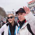 La princesse Charlene et le prince Albert de Monaco aux JO de Sotchi le 9 février 2014