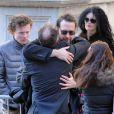 David Bar Katz aux funérailles de Philip Seymour Hoffman à New York le 7 février 2014