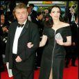 Dominique Besnehard et Béatrice Dalle lors du Festival de Cannes 2004