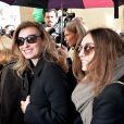 Valérie Trierweiler lors de son arrivée au défilé Christian Dior prêt-à-porter collection Automne/Hiver 2014-2015 au musée Rodin lors de la fashion week à Paris, le 28 février 2014