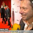 Mathieu Amalric arrive aux César 2014.