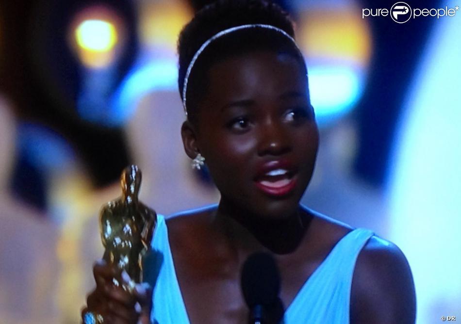 Lupita Nyong'o, meilleure actrice dans un second rôle aux Oscars 2014.