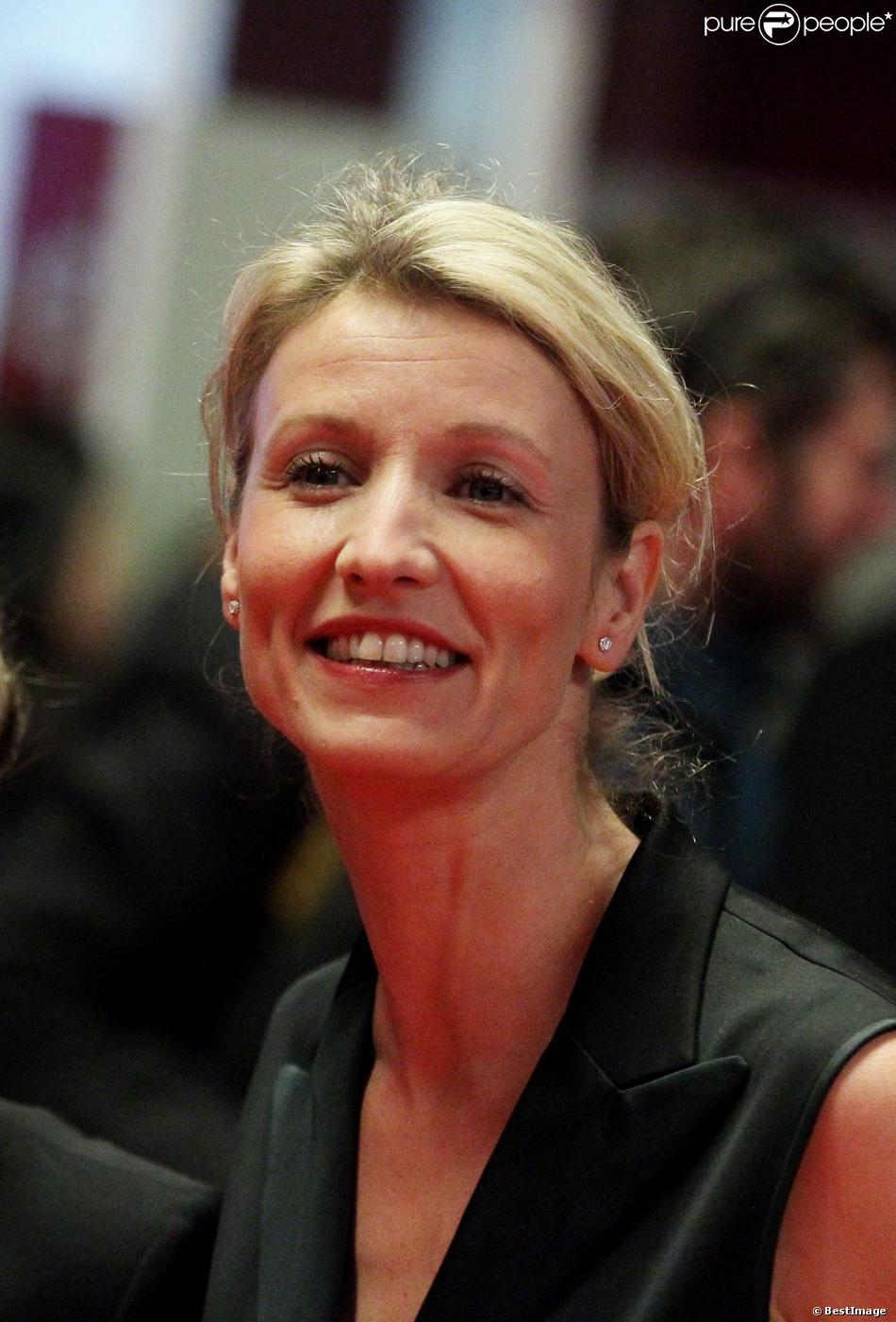 Alexandra Lamy à Paris le 16 février 2012.