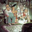 Sylvain Chomet rejoue le générique de la série Les Simpson, avec Homer, Lisa et Bart.