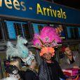 Julien et Romain de retour à Paris après le tournage de l'émission 'Les Marseillais a Rio' pour W9, le 6 mars 2014, à l'aéroport Roissy Charles de Gaulle.