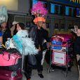 Paga, Stephanie, Julien et Jessica de retour à Paris après le tournage de l'émission 'Les Marseillais a Rio' pour W9, le 6 mars 2014, à l'aéroport Roissy Charles de Gaulle.