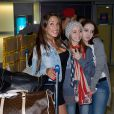 Kim de retour à Paris après le tournage de l'émission 'Les Marseillais a Rio' pour W9, le 6 mars 2014, à l'aéroport Roissy Charles de Gaulle.