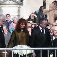 André Dussollier, Sabine Azéma - Obsèques d'Alain Resnais au cimetière du Montparnasse à Paris le 10 mars 2014.  Funeral of Alain Resnais at Montparnasse Cemetery on 10/03/2014.10/03/2014 - Paris