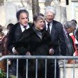 Paul-Loup Sulitzer - Obsèques d'Alain Resnais au cimetière du Montparnasse à Paris le 10 mars 2014.  Funeral of Alain Resnais at Montparnasse Cemetery on 10/03/2014.10/03/2014 - Paris