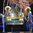 Miley Cyrus en concert à la MGM Grand Garden Arena à Las Vegas. Le 1er mars 2014.
