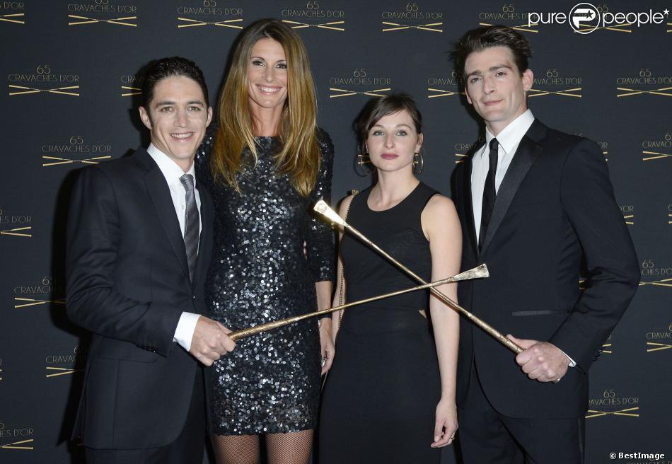 Christophe soumillon et sa femme sophie thalmann avec jonathan plouganou et son pouse sur le - Sophie thalmann charlie soumillon ...