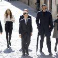 Jaime de Marichalar en compagnie de ses enfants Felipe et Victoria dans le cortège lors des funérailles de sa mère María de la Concepción Sáenz de Tejada y Fernández de Boadilla, célébrées le 16 mars 2014 à Soria.
