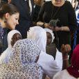 La princesse Victoria de Suède à Accra, au Ghana, le 17 mars 2014 dans le cadre d'une visite officielle promotionnelle au Ghana et en Tanzanie du 17 au 21 mars.
