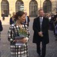 Victoria de Suède avec son mari Daniel et leur fille Estelle lors des célébrations de sa fête, le 13 mars 2014 à Stockholm