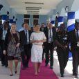 La princesse Victoria de Suède en visite officielle à Accra, le 18 mars 2014.