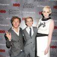 """Finn Jones, Jack Gleeson et Gwendoline Christie - Première de la saison 4 de """"Game of Thrones"""" au Lincoln Center à New York, le 18 mars 2014."""
