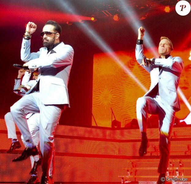 Les Backstreet Boys en concert au Zénith de Paris, le 18 mars 2014.