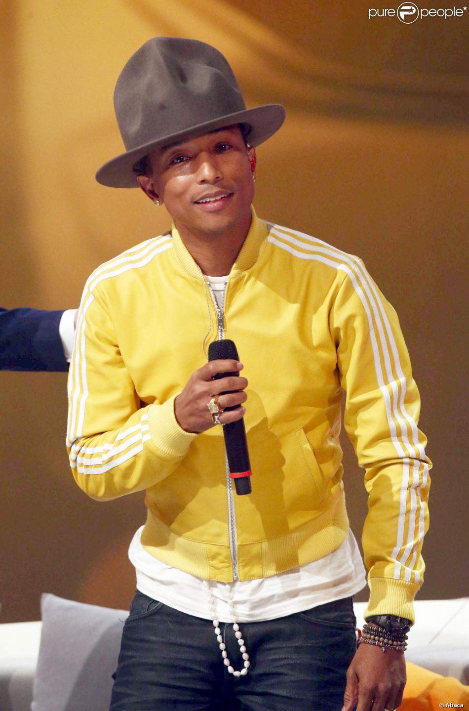Pharrell Williams àDüsseldorf,le 22 février 2014.