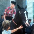 La princesse Anne à cheval sous les yeux de son mari Mark Phillips en 1974
