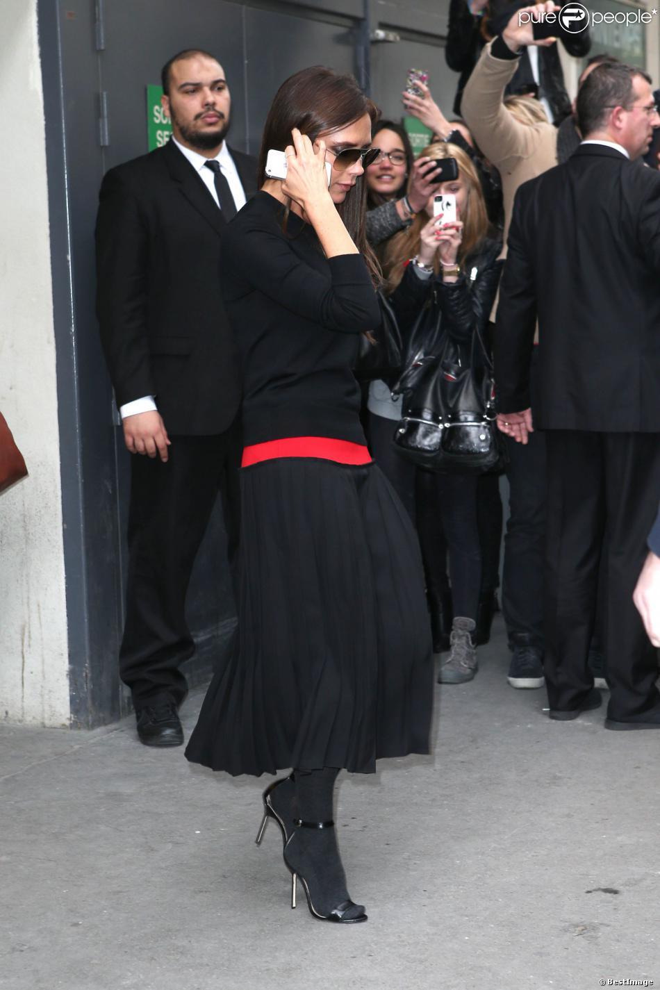 La star anglaise Victoria Beckham a inauguré le premier corner de sa marque dans un grand magasin, le Printemps, à Paris à l'occasion de la fashion week. Le 28 février 2014