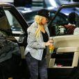 Christina Aguilera, enceinte de son second enfant, à Beverly Hills le 21 mars 2014