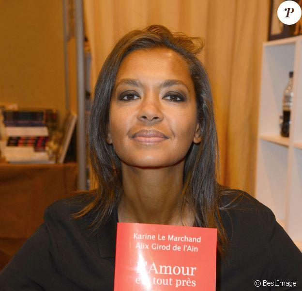 Karine Le Marchand à la 34e édition du Salon du Livre à Paris, Porte de Versailles, le 21 mars 2014.