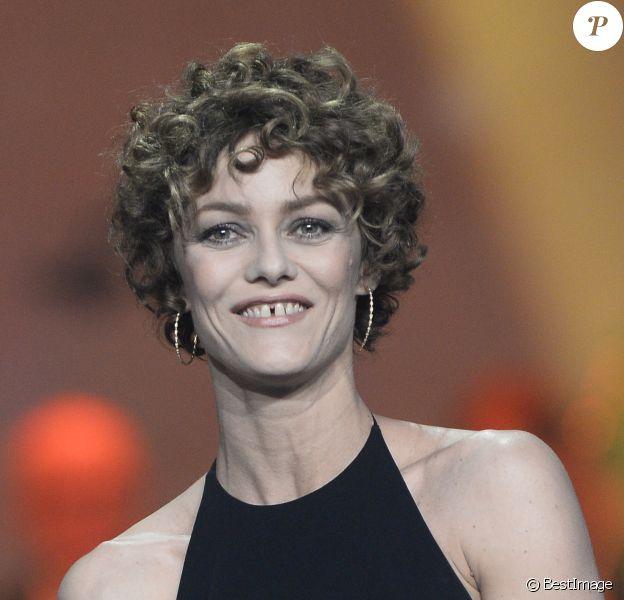 Vanessa Paradis (Artiste interprète féminine) lors de la 29ème édition des Victoires de la Musique à Paris le 14 février 2014