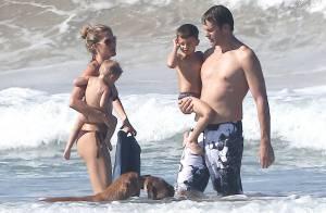 Gisele Bündchen : Super sexy en bikini à la plage avec son Tom et ses enfants