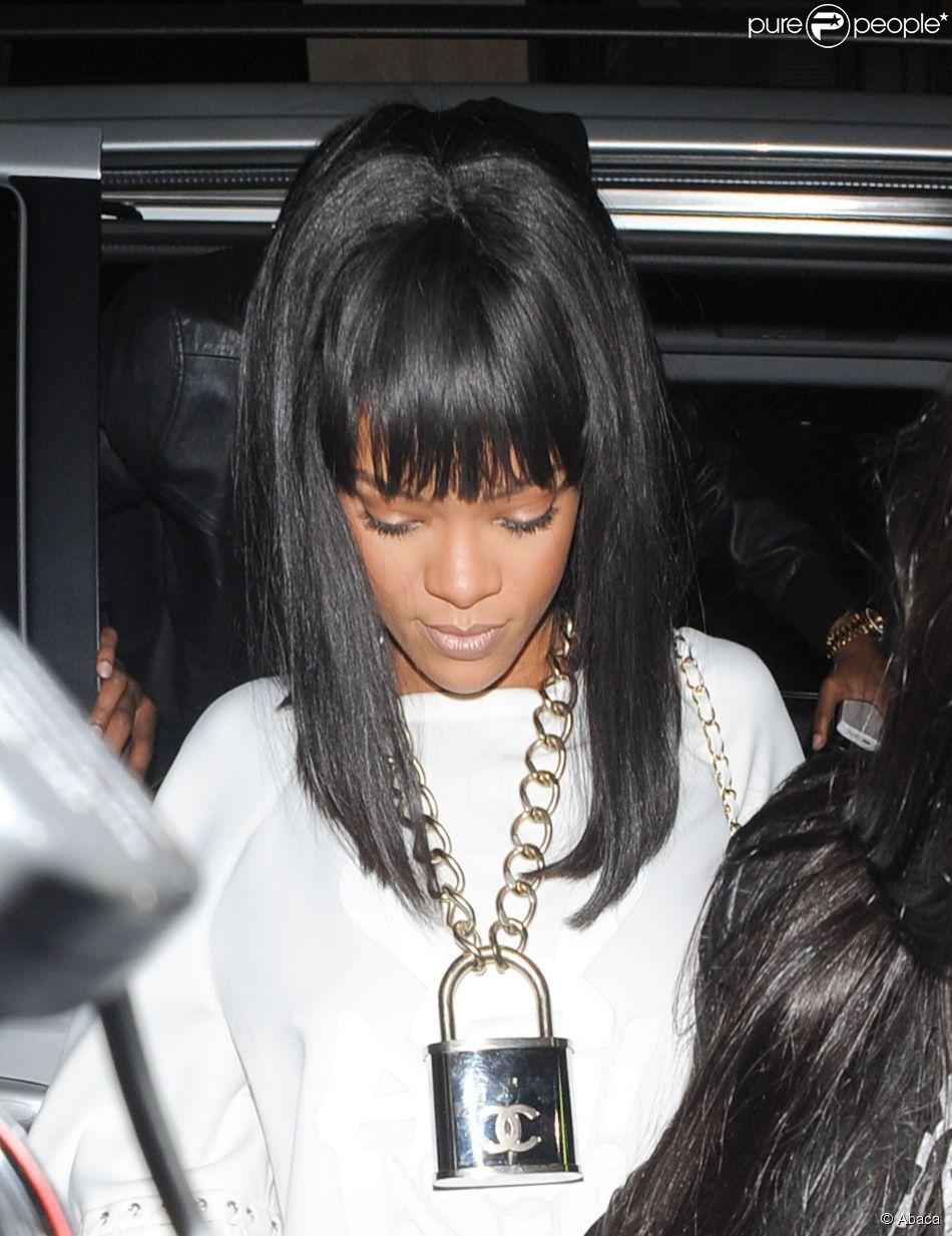 Avant apr s coiffure rihanna avec une frange - Rihanna avant apres ...