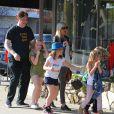 """Tori Spelling sur le tournage de son émission de télé réalité """"True Tori"""" à Studio City, le 3 avril 2014."""
