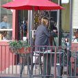 """Jennifer Aniston sur le tournage du film """"Cake"""" à Los Angeles, le 8 avril 2014"""