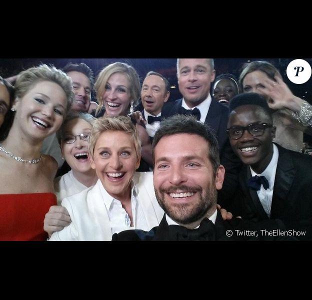 Le fameux selfie aux Oscars 2014.