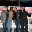"""Frédéric Chau, Noom Diawara, Medi Sadoun et Ary Abittan lors de l'avant-première de """"Qu'est-ce qu'on a fait au Bon Dieu ?"""" à Paris le 27 mars 2014"""