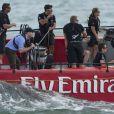 Le prince William et la duchesse Catherine ont fait la course à la voile le 11 avril 2014 à Auckland.