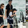 Le prince William et Kate Middleton se sont affrontés à la voile le 11 avril 2013 à Auckland, en Nouvelle-Zélande. La duchesse a gagné !