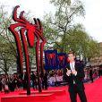 """Andrew Garfield lors de la première du film """"The Amazing Spider-Man 2 : le destin d'un Héros"""" au cinéma Odeon Leicester Square à Londres, le 10 avril 2014."""