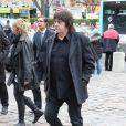 Le producteur Michel Algay aux obsèques de Frank Alamo en l'église de Saint-Germain-des-Prés à Paris, le 18 octobre 2012.