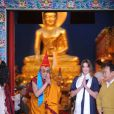 Carla Bruni rencontre le dalaï lama