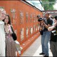 Francis Huster et Cristiana Reali à Paris, le 3 juin 2006.