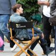 """L'actrice Chyler Leigh sur le tournage de la série """"Taxi Brooklyn"""" à New York, le 6 septembre 2013. L'actrice s'est blessée à la cheville pendant le tournage."""