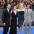 Michael Fassbender, Noomi Rapace, Charlize Theron et Logan Marshall-Green à Londres, le 31 mai 2012.