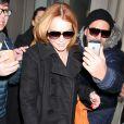 "Lindsay Lohan se rend à l'émission ""The Tonight Show with Jimmy Fallon'"" à New York, le 6 mars 2014"
