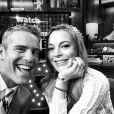 Andy Cohen et Lindsay Lohan sur le plateau de Watch What Happens Live, le 17 avril 2014.