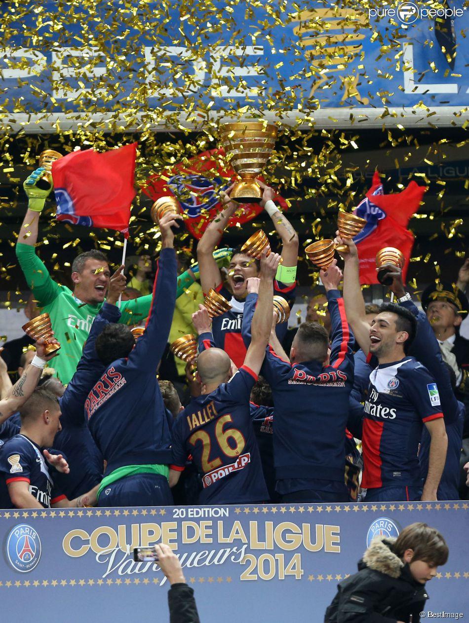 Finale de football de la coupe de la ligue psg lyon 2 1 au stade de france paris le 19 - Finale de la coupe de la ligue ...