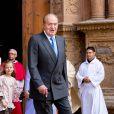 Le roi Juan Carlos lors de la messe de Pâques à Palma de Majorque le 20 avril 2014.